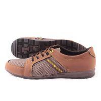 Ankor: Мужские летние кроссовки Т31 коричневые сетка Оптом