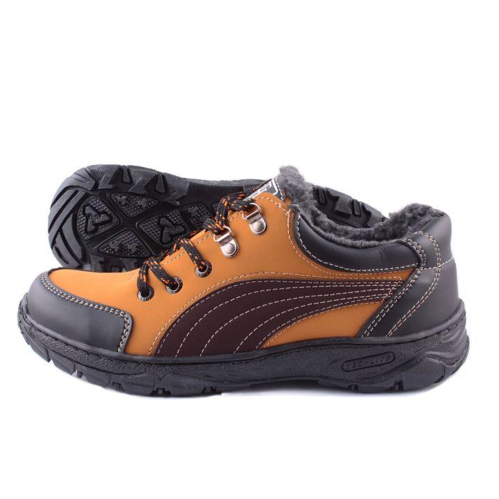 Ankor: Спортивные зимние кроссовки Puma мех оранж