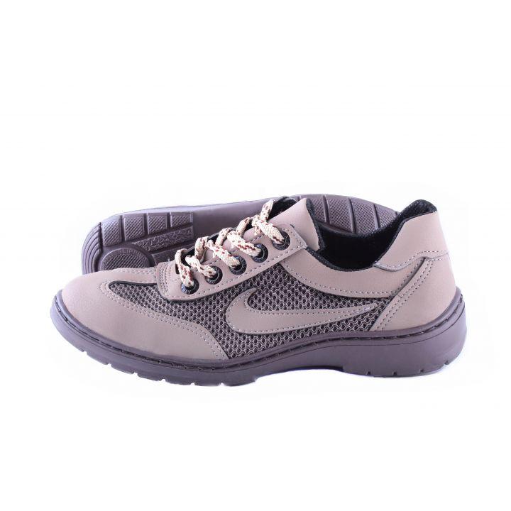 Koobeek: Подростковые кроссовки №7 сетка беж