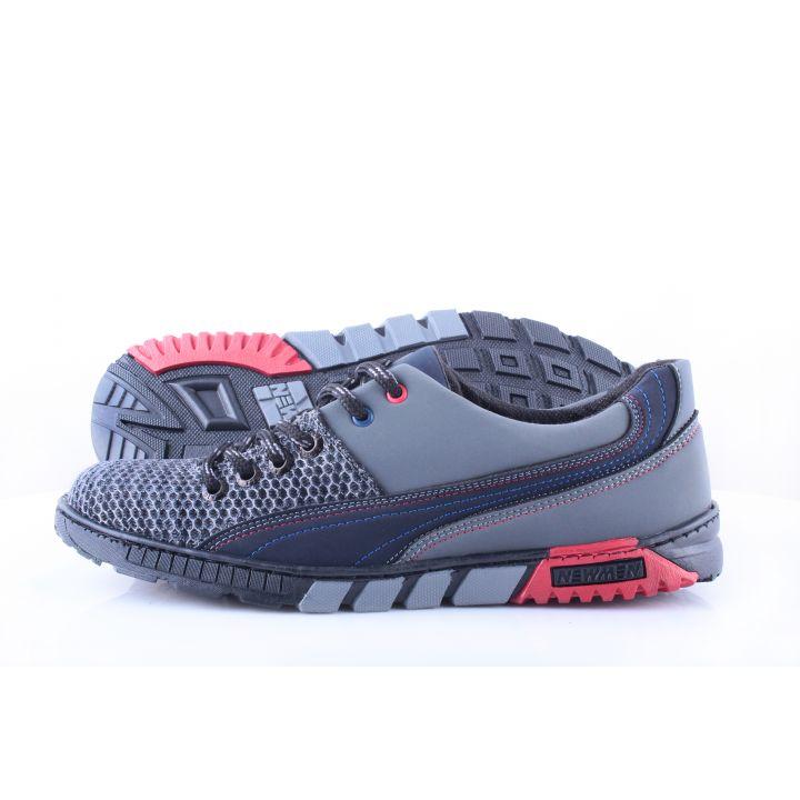 Ankor: Мужские летние кроссовки Т10 сетка серые оптом