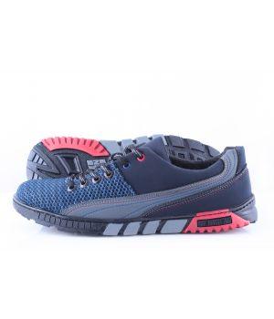 Ankor: Мужские летние кроссовки Т10 сетка синие оптом