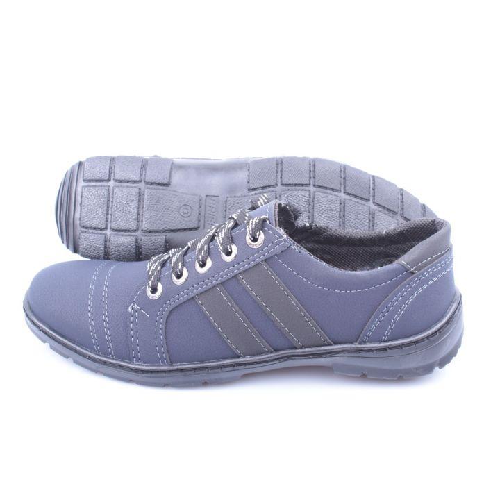 Ankor:Мужские повседневные кроссовки скейт синий оптом